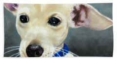 Beach Towel featuring the painting Hank by Jeanne Fischer