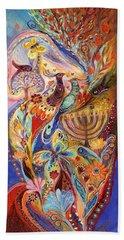 Hanukkah In Magic Garden Beach Towel