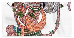 Hanuman Beach Towel