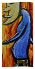 Beach Sheet featuring the painting Happiness 12-005 by Mario Perron