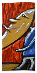Beach Towel featuring the painting Happiness 12-006 by Mario Perron