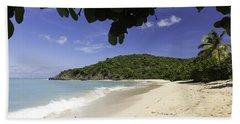 Happy Bay Off Coast Of St Martin Caribbean Beach Towel