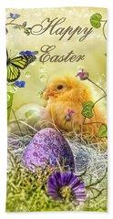 Happy Easter Beach Towel