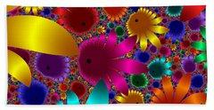 Happy Flowers Beach Sheet
