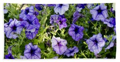 Beach Towel featuring the photograph Happy Flowers by Wilma  Birdwell