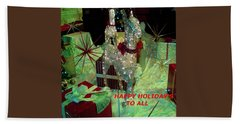 Beach Sheet featuring the photograph Happy Holidays by Jay Milo