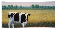 Happy Holstein Beach Towel