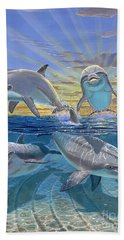 Happy Hour Re003 Beach Towel by Carey Chen
