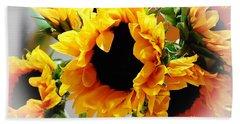 Happy Sunflowers Beach Sheet