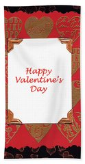 Beach Towel featuring the photograph Happy Valentines Day Card by Vizual Studio