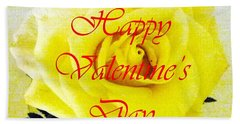 Happy Valentine's Day Beach Towel