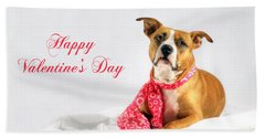 Fifty Shades Of Pink - Happy Valentine's Day Beach Towel