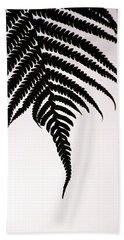 Beach Sheet featuring the photograph Hapu'u Frond Leaf Silhouette by Lehua Pekelo-Stearns