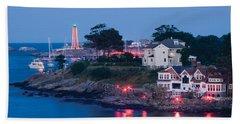 Marblehead Harbor Illumination Beach Towel by Jeff Folger