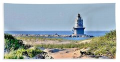 Harbor Of Refuge Lighthouse Beach Towel