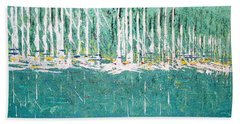Harbor Shores Beach Towel by George Riney