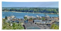 Harbor Springs Michigan Beach Towel by Bill Gallagher