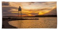 Harbor Sunrise Beach Towel