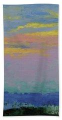 Harbor Sunset Beach Sheet by Gail Kent