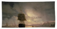 Harbour At Odessa On The Black Sea, 1852 Beach Towel