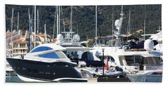 Harbour Docking Scene Beach Towel