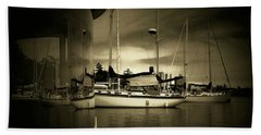Beach Towel featuring the photograph Harbour Life by Micki Findlay