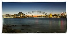 Harbour Night Beach Towel