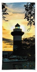 Harbour Town Lighthouse Beacon Beach Towel