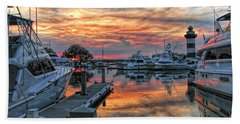 Harbour Town Yacht Basin Beach Towel