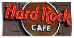 Hard Rock Cafe Sign Beach Sheet