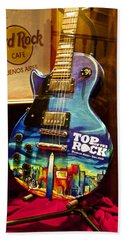 Hard Rock Electric Guitar Beach Towel