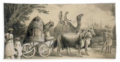 Harem Carriage Of The King Of Delhi Beach Towel