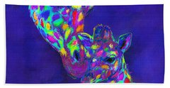 Harlequin Giraffes Beach Sheet by Jane Schnetlage