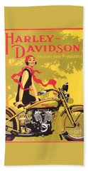 Harley Davidson 1927 Poster Beach Towel by Reproduction