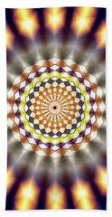 Beach Towel featuring the drawing Harmonic Sphere Of Energy by Derek Gedney