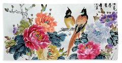 Harmony And Lasting Spring Beach Towel by Yufeng Wang