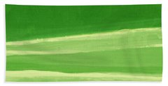 Harmony In Green Beach Sheet by Linda Woods
