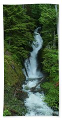 Beach Towel featuring the photograph Harrison Lake Road Falls by Rod Wiens