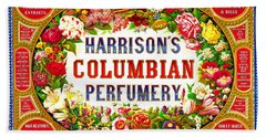 Harrison's Columbian Perfumery 1854 Beach Towel