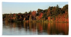 Hart Pond Golden Hour Beach Sheet by Kenny Glotfelty
