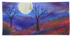 Harvest Moon 3 Beach Towel by Jeanne Fischer