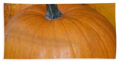 Beach Towel featuring the photograph Harvest Pumpkins by Chalet Roome-Rigdon