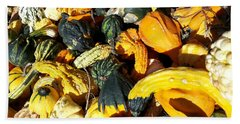Beach Towel featuring the photograph Harvest Squash by Caryl J Bohn