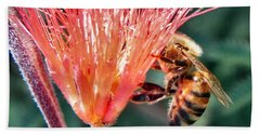 Beach Towel featuring the photograph Harvesting by Deb Halloran