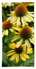 Harvest Moon Conehead Flower Beach Towel