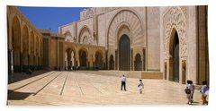 Beach Sheet featuring the photograph Hassan II Mosque Grand Mosque Sour Jdid Casablanca Morocco by Ralph A  Ledergerber-Photography