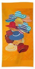 Beach Towel featuring the painting Hats Off by Deborah Boyd