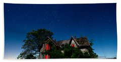 Haunted Farmhouse At Night Beach Towel