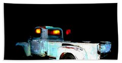 Beach Towel featuring the digital art Haunted Truck by Cathy Anderson