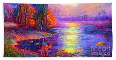 Haunting Star Beach Towel by Jane Small